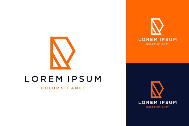 Unique design logo or monogram or initials r