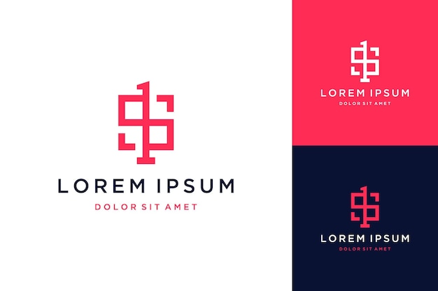 Unique design logo or monogram or initials s1