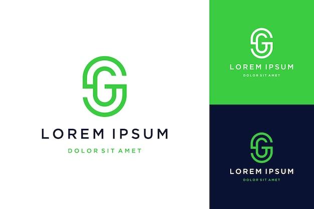 Unique design logo or monogram or sg letter initials