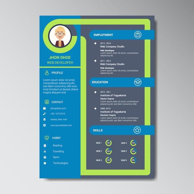 Уникальный шаблон дизайна шаблона с цветным рисунком с фотографией или местом для заметок аватар