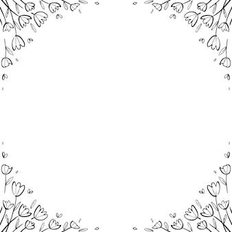 Unique floral frame