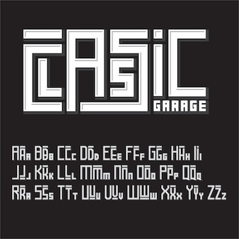 Уникальный шрифт векторных букв от a до z