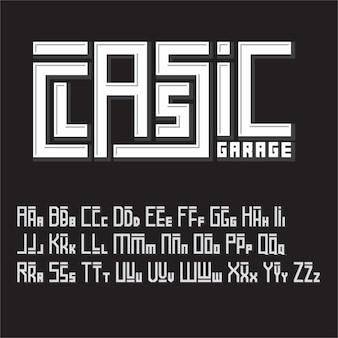 Unique font vector letters a to z