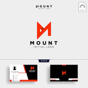 Unique letter m creative logo template with business card