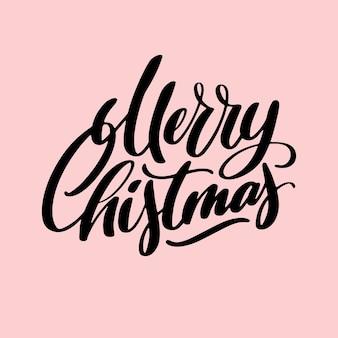 Unique lettering merry christmas