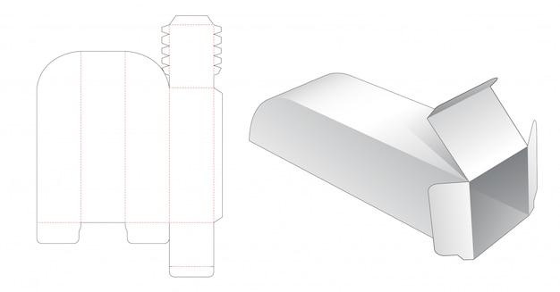 ユニークな長い包装箱ダイカットテンプレート
