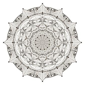 Рисование линии уникальной концепции мандалы