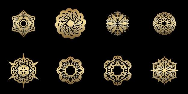 Unique mandala decoration a set in ethnic style