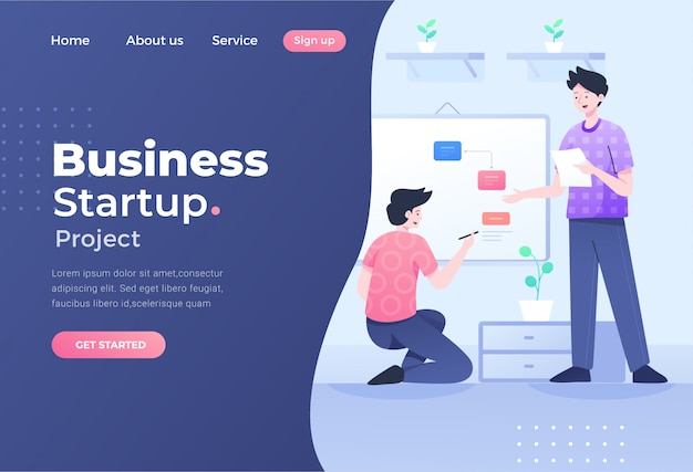Unique modern flat design concept of teamwork for website and mobile website