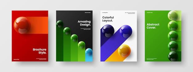 Уникальный набор векторных иллюстраций дизайна буклета формата а4