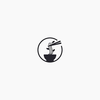 Unique ramen logo