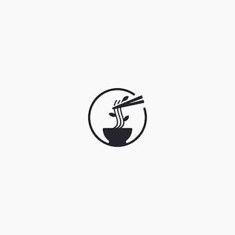 ユニークなラーメンロゴ