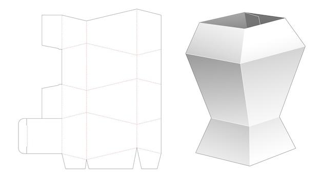 Unique stationery box die cut template