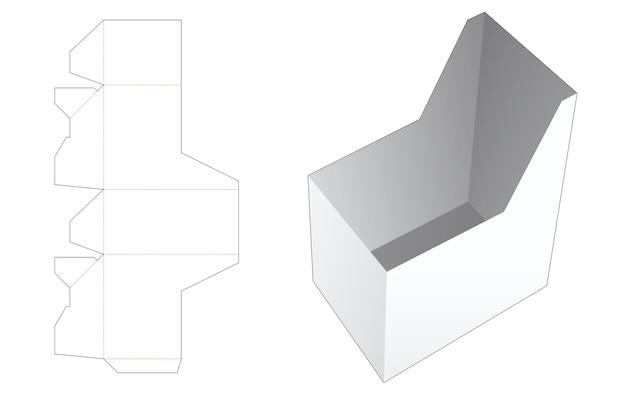 독특한 문구 상자 다이 컷 템플릿