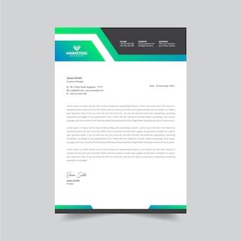 Unique stylish company letterhead design template premium vector