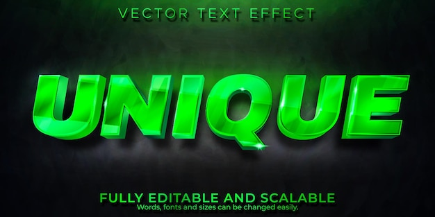 Unique text effect, editable royal and luxury text style