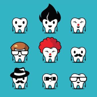Уникальный набор символов зуба