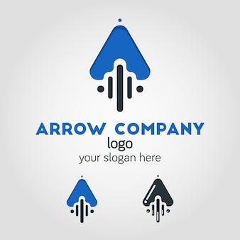 Unique up arrow logo template using flat design style