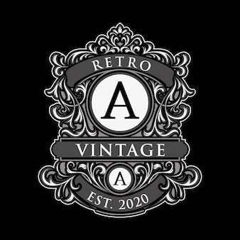Unique vintage label logo