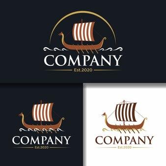 Unique vintage sailboat template logo