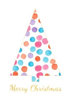 Unique watercolor polkadot christmas tree