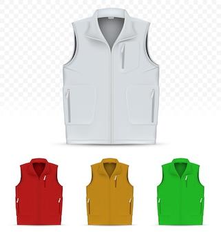 Unisex vest isolated on white background