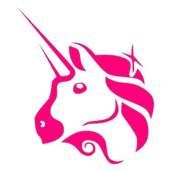 Uniswap uni символ токена логотип криптовалюты, значок монеты, изолированные на белом фоне. векторная иллюстрация.