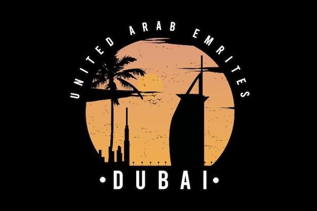 United arab dubai color yellow and light orange