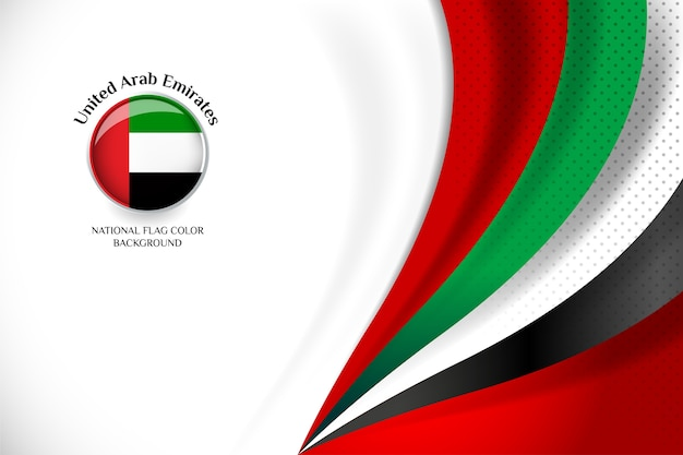 United arab emirates flag concept background