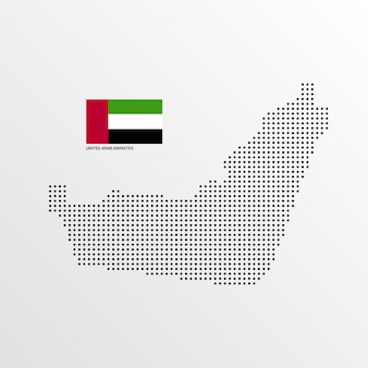 United arab emirates map design