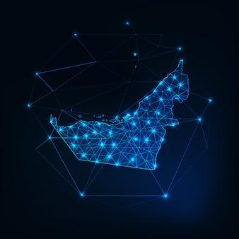 アラブ首長国連邦マップの星と線の概要