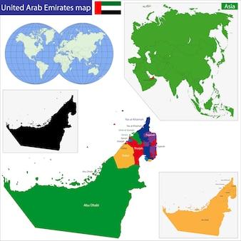 아랍 에미리트지도