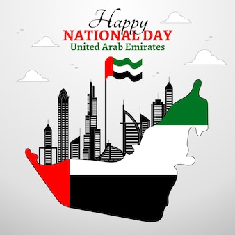 United arab emirates national day flat design background