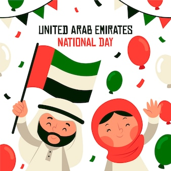 United arab emirates national day in flat design