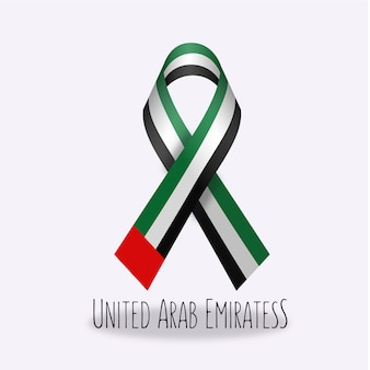 United arab emiratess flag ribbon design