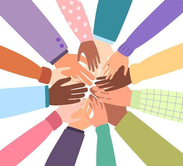 世界の統一されたコミュニティチームワークの統一または多様性のために一緒に異なる国籍