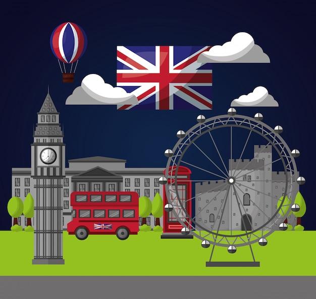 Флаг страны соединенного королевства