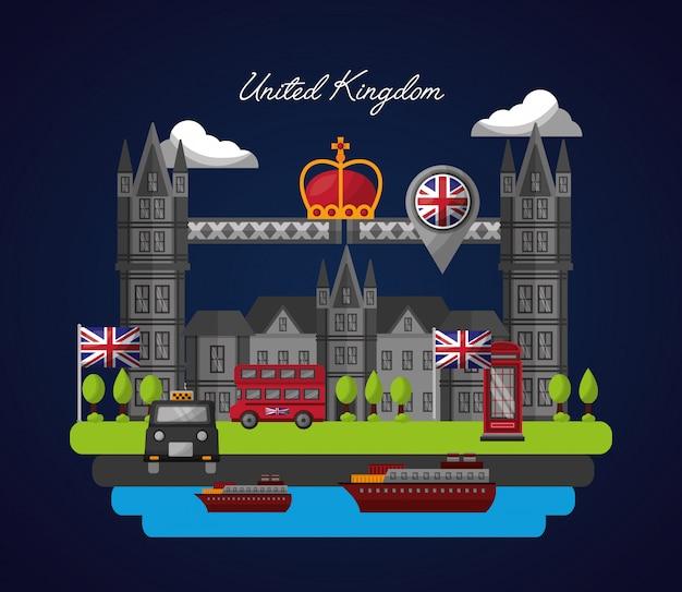 영국 국가 깃발 프리미엄 벡터