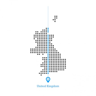 United kingdom doted map design vector