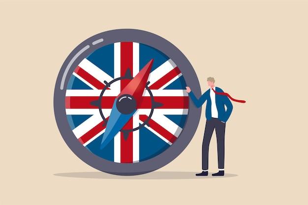 英国のeu離脱協定後の英国の経済的方向性 Premiumベクター