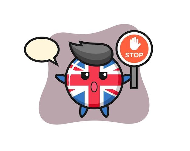 Значок флага соединенного королевства, милый стильный дизайн для футболки, стикер, элемент логотипа