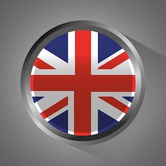 United kingdom flag badge round button