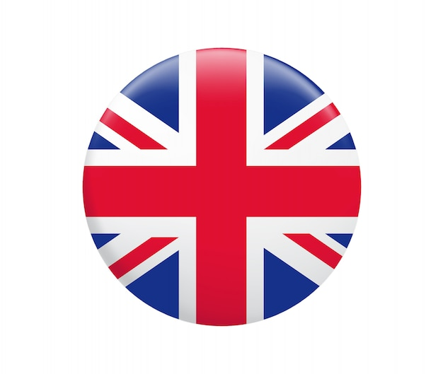 United kingdom flag button. uk flag icon.