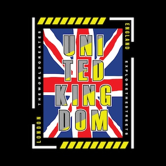 United kingdom flag graphic for t shirt printing