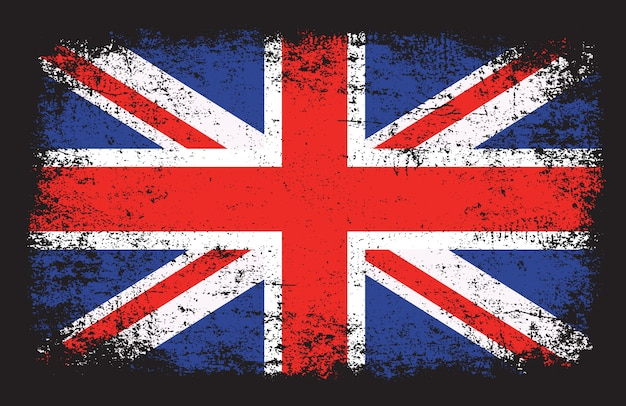 United kingdom flag in grunge style