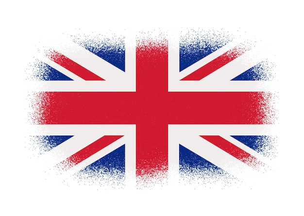 United kingdom flag in grunge style