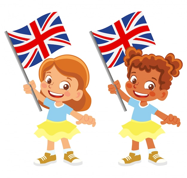 United kingdom flag in hand set