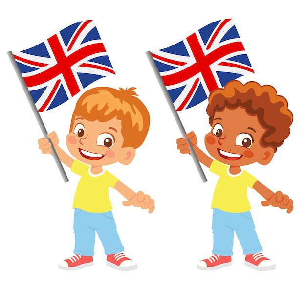 United kingdom flag in hand set