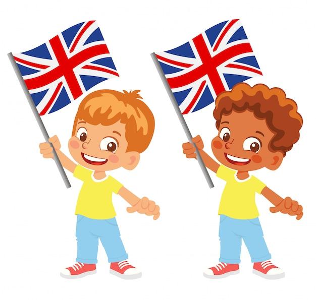 손 세트에 영국 국기