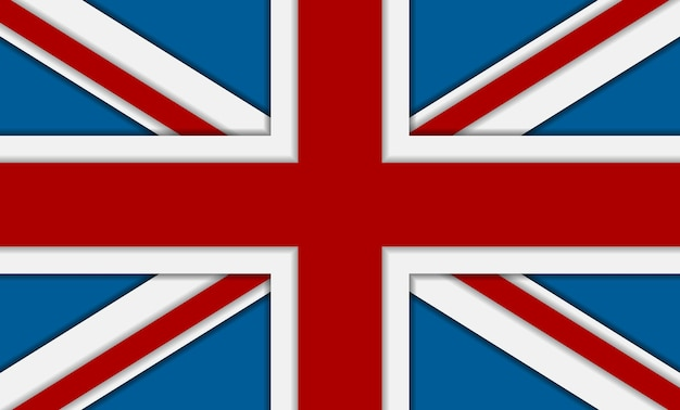 United kingdom of great britain flag. vector corporate background